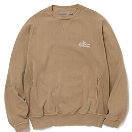 NONNATIVE - SOPHNATIVE DWELLER CREW PULLOVER COTTON SWEAT COFFEE OVERDYED