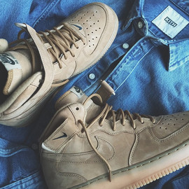 Nike - Air Force 1 Mid - Wheat
