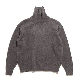blurhms - Silk Mohair Wool Knit Turtle Neck P/O-H.Brown