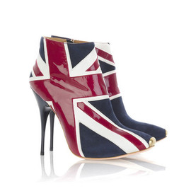 Alexander McQueen - Union Jack ankle boots