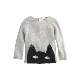 Baby Oeuf - Baby Oeuf® peeking cat sweater