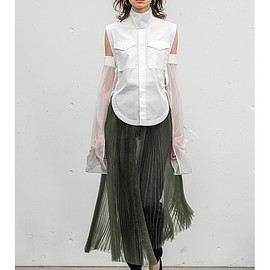 HYKE - ORGANDY PLEATED SKIRT