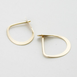 MELISSA JOY MANNING - small half round hoops  yellow gold