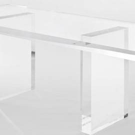 "吉岡徳仁, Tokujin Yoshioka - The Invisibles ""Snowflake"" Installation for Kartel, table high"