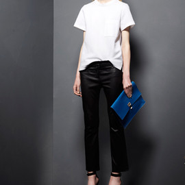 SS2015 Python, And Window Pane Shiny Calf Cruise Blue Z Crossbody