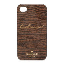 kate spade NEW YORK - RESIN IPHONE CASE KNOCK ON WOOD