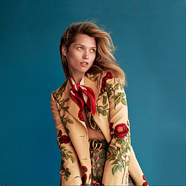 Gucci - Gucci Floral-Print Wool And Mohair-Blend Blazer