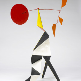 Alexander Calder - Crinkly with a Red Disc [maquette], c. 1973.