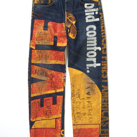 Levi's - Old Banner Style Painted 501 Graffiti by Tycoon Tosh