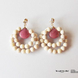 Rough'N'tumble - Autumn collection river stone classical pierce pink
