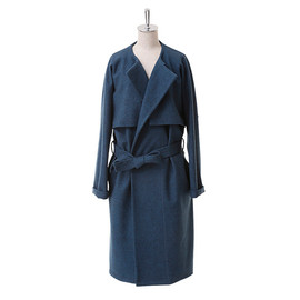 beautiful people - milled jesey no collar wrap coat