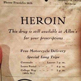 Allen's - Vintage newspaper ad for heroin... still available