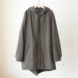 White Mountaineering - WOOL MELTON MODS COAT
