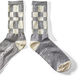 House Industries - Gray Check Socks