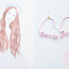 a cloudy dream - ARTY WIRE PIERCE good girl PASTEL PINK