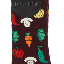 TOPSHOP - Wine Vegetable Ankle Socks