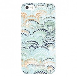 cinra - iPhone5/5Sケース「marble knit」(クリア・ブルー)