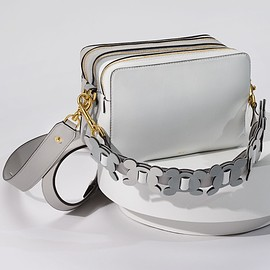 Anya Hindmarch - Anya Hindmarch The Stack Leather Cross-Body Bag in White