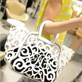 Eabag - Eabag.Womens.Delicate.Floral.Hollow-Out.PULeather.Bags