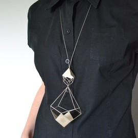 Emma M.F.Gregory - 'Ag Sectional Pendant' Necklace.