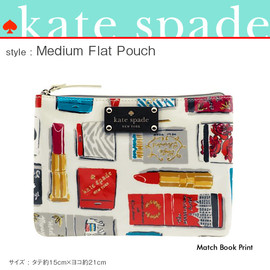kate spade NEW YORK - kate spade ケイトスペード ミディアム フラット ポーチ 《Medium Flat Pouch》