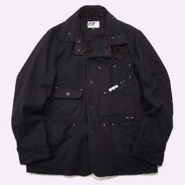 Engineered Garments - RAILROADER JACKET  - Uniform Serge / Navy