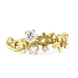 Alex Monroe - Wild Posy Twist Diamond Ring