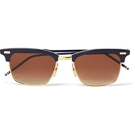 Thom Browne - D-Frame Acetate and Gold-Tone Sunglasses