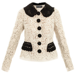 DOLCE&GABBANA - Lace mounted organza jacket