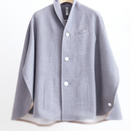 NO CONTROL AIR - A10-C31/cotton wool double face poncho