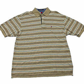 TOMMY HILFIGER - Tommy Hilfiger Striped Polo Shirt Mens Clothing Size Large