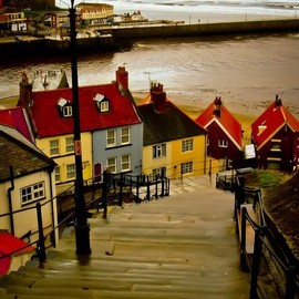 in Whitby, England - in Whitby, England