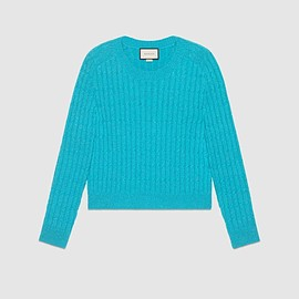 GUCCI - Cable knit wool lurex sweater