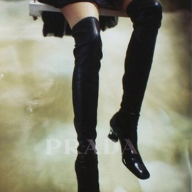 PRADA - knee high boots