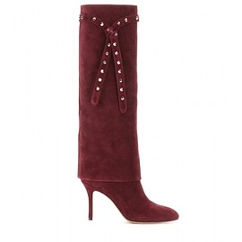 VALENTINO - Pre-Fall 2015 Embellished suede knee-high boots