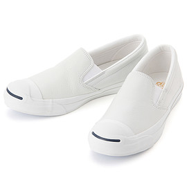 CONVERSE - JACK PURCELL SRK LEATHER SLIP-ON(ホワイト)