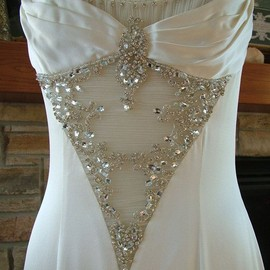 wedding - 1930s vintage inspired  bling bridal gown