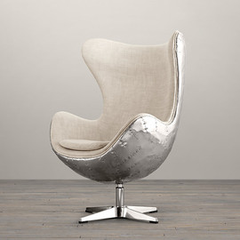 Restoration Hardware - 1950s Copenhagen Spitfire Upholstered Chair