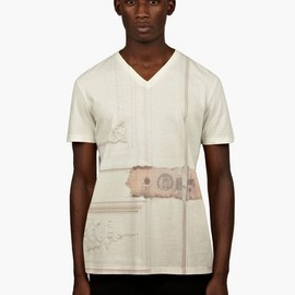 Maison Martin Margiela - 10 Men's Off-White Maison Print T-Shirt
