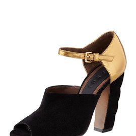 MARNI - Scalloped-Platform Mary Jane Sandal