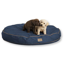 L.L.Bean - Premium Denim Dog Bed,Round
