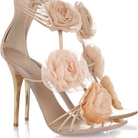 Giuseppe Zanotti Design - Flower-appliqué leather sandals