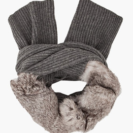 3.1 Phillip Lim - Rabbit Fur Knit Scarf