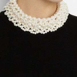 Simone Rocha - Faux pearl necklace