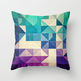 Spires - pyrply Throw Pillow