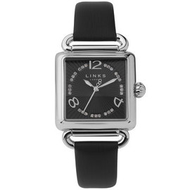 links of london - Driver Black White Sapphire Watch
