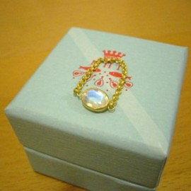 marie helene de taillac - moonstone chain ring