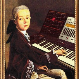 [ facebook ] Gábor Hadron - Rare painting of the young Mozart.
