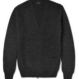 Lanvin - Waffle-Knit Wool Zip-Up Cardigan