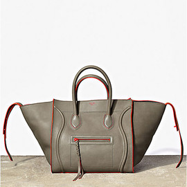 CELINE - GREY SUPPLE CALF SMALL SQUARE LUGGAGE PHANTOM